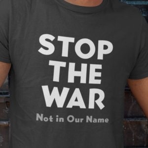 stop the war - not in our name